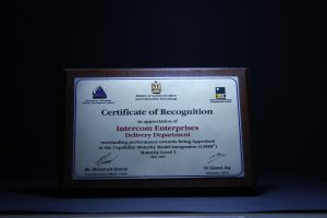 MCIT: Certificate of Recognition 2007