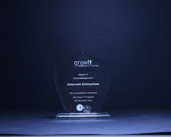 GrowIt: Award of acknowledgment 2012
